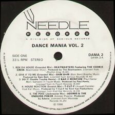 VARIOUS - Dance Mania Volume 2 - 1988 Needle Records LP Uk ‎- DAMA2