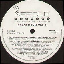 VARIOUS - Dance Mania Volume 2 - 1988 Needle Records LP Uk - DAMA2