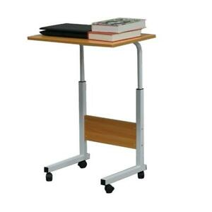 Adjustable Height PC Computer Rolling Desk Laptop Table Cart Mobile Bed Stand