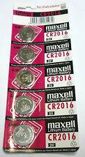 5 pc  Maxell  CR2016  2016  3 V  Batteries  Japan  genuine !~~~~