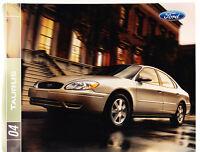 2004 Ford Taurus First Edition Original Sales Brochure