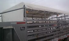 W-W Cattle Trailer Tarp Top fits 20' x 6' wide Gooseneck