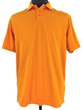 Under Armour Loose HeatGear Mens Orange Short Sleeve Golf Polo Shirt Size Medium