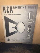 1950!RCA Catalog Receiving Tubes A.M., FM & T.V Original Copy!