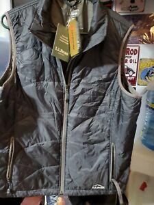 LL BEAN Women's XL PRIMALOFT Insulated Packaway Outerwear Vest BLACK  NWTS