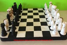 Vintage Atlantic Mold Company Ceramic Classic Chess Set Hand Painted Collectible