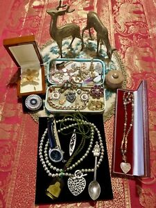 deceased estate bulk lot vintage jewellery AND COLLECTIBLES