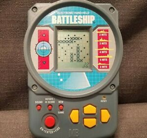 Vintage Battleship Milton Bradley Electronic Game Video Hand Held 1995 Tested