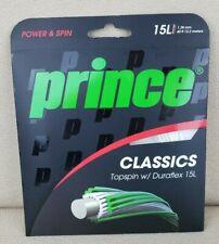 Prince Classics 1.38 mm Topspin w/ Duraflex 15L White