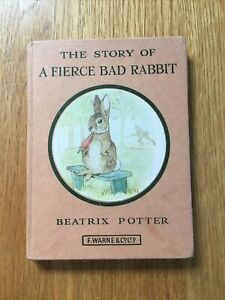 Story Of A Fierce Bad Rabbit By Beatrix Potter, Lovely Old Book