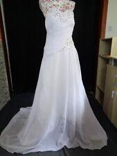 (90)Edles Damen Braut Standesamt Abend Kleid GR: 40