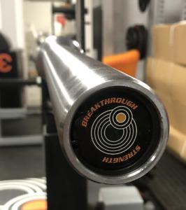 7ft 20kg olympic bar - 28mm grip - revolving sleeves - 1500lb load cap - Chrome