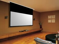 """106"""" Ceiling Recessed Motorized Projector Screen White 16:9 Projection w/ Remote"""