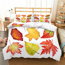 Red Maple Leaves Twin/Full/Queen/King Bed Duvet/Quilt Cover Set Bedding Linen