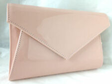 NEW LIGHT PINK FLESH NUDE EVENING DAY CLUTCH BAG WEDDING PROM PARTY SHOULDER