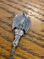 Vintage Ornate America Bicentennial USA EPNS Mini Spoon With Bald Eagle 200 Yrs