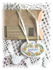 Longaberger Porcelain Daffodil Basket Tie On 2008 May Series New In Box Retired