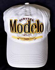 CERVEZA MODELO 1925 Adjustable Baseball Hat/Cap White One Size Fits Most >NEW<