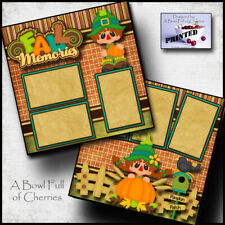 Fall Memories autumn 2 premade scrapbook pages paper printed layout Cherry 0097