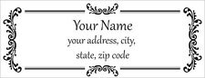 30 Personalized Custom Address Labels Laser Printed Vintage Pattern Stickers 3