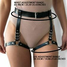 Women PU Leather Body Harness Waist Belt Leg Garter Punk Gothic Suspenders Strap