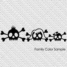SKULL FAMILY VAMPIRE BONES HARLEY ROCK CAR WINDOW VINYL DECAL STICKER (SF-02-RS)