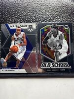 2019-20 Panini Mosaic ALLEN IVERSON 2 Card Lot -hall Of Fame And  Old School