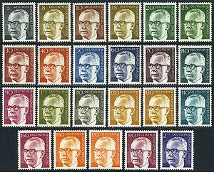 Germany-Berlin 9N284-9N301, MNH. President Gustav Heinemann, 1970-1973