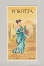 Carte à parfumer   - perfume card  -  Pompeïa de L.T. Piver