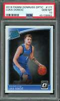 Luka Doncic Rookie Card 2018-19 Panini Donruss Optic #177 PSA 10