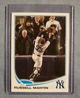 Russell Martin 2013 Topps SP Photo Variation Catching #282 Yankees ~10?! MINT~