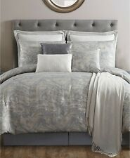 VCNY Home 7 Piece QUEEN Comforter Set Cosmo Jacquard GREY A02153