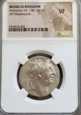 Seleucid Kingdom Antiochus VII Tetradrachm NGC VF Ancient Silver Coin