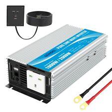 More details for giandel 1000w pure sine wave power inverter 12v to ac 240v converter with remote
