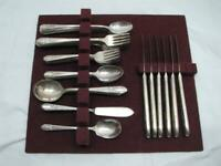 41 pcs Wm Rogers Mfg Co. Reflection Silverplate Flatware svc for 6/8
