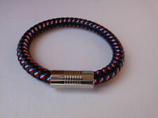 Leather And Cord Magnetic Clasp Wrap Bracelet GB Colours