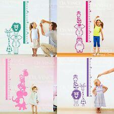 Height Chart Wall Decal Sticker Vinyl Animals Safari Baby Kid Girl Room Nursery