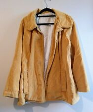 Yellow Velvet Coat Jacket Handmade Unique One Off Vintage Chic 10 12 Mustard