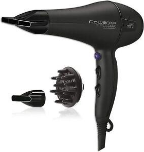 Asciugacapelli professionale 2200 W, Rowenta CV7843 Signature Pro AC, Ioni Nero