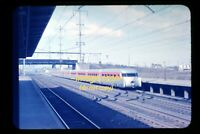 c.1956 PRR Pennsy Aerotrain at Lancaster, Pennsylvania, Original Slide d22a