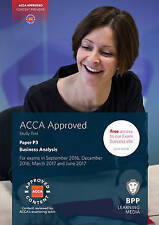 ACCA P3 Business Analysis: Study Text by BPP Learning Media (Paperback, 2016)