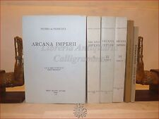 DIRITTO ROMA ANTICA - DE FRANCISCI, Pietro: ARCANA IMPERII 4 voll 1970 Bulzoni