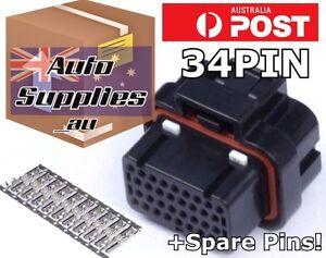 34 Pin +spares ECU Connector & Pins Set Haltech Elite ADAPTRONIC Vipec Link Wolf
