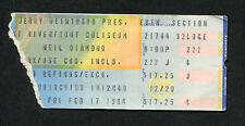 Original 1984 Neil Diamond concert ticket stub Cincinnati OH Heartlight Tour