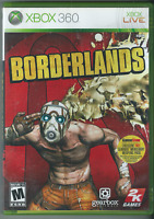 Borderlands (Microsoft Xbox 360, 2009) (Complete w/ Manual) 🍀🍀🍀