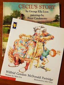 WILFRID GORDON MCDONALD PARTRIDGE by Mem Fox & CECIL'S STORY by George E. Lyon