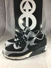 Nike Air Max 90 Essential Men's Size 11 Black/Wolfe Grey 537384 053 Gray