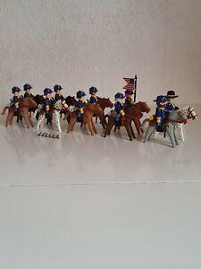 """PLAYMOBIL® Western (200) """"Nordstaatler-Kavallerie"""" ASC Yankee Top Zustand!"""