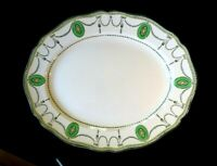 Beautiful Royal Doulton Countess Green Rim Large Oval Platter Circa 1920