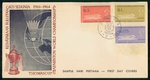 Mayfairstamps INDONESIA FDC 1961 COVER BADMINTON THOMAS CUP COMBO wwm30323